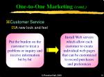 one to one marketing cont18
