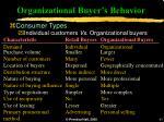 organizational buyer s behavior