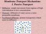 membrane transport mechanisms i passive transport