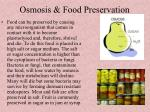 osmosis food preservation