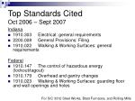 top standards cited oct 2006 sept 2007