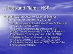 status and plans nsf