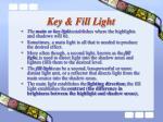key fill light