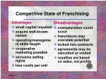 competitive state of franchising