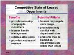 competitive state of leased departments