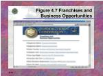 figure 4 7 franchises and business opportunities