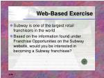 web based exercise