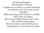 the inward disciplines the discipline of fasting
