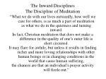 the inward disciplines the discipline of meditation15