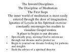 the inward disciplines the discipline of meditation18
