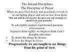 the inward disciplines the discipline of prayer24