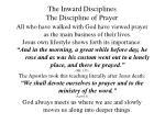 the inward disciplines the discipline of prayer25