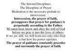 the inward disciplines the discipline of prayer30