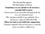 the inward disciplines the discipline of prayer31