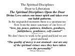 the spiritual disciplines door to liberation12
