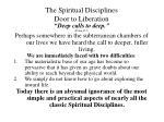 the spiritual disciplines door to liberation5