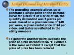 law of demand and marginal utility
