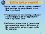 role of time in demand29