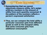 units of utility