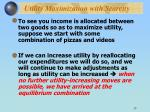utility maximization with scarcity13