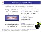 the task of classification