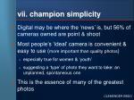 vii champion simplicity