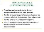 funciones de la superintendencia