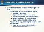 counterfeit drugs are dangerous