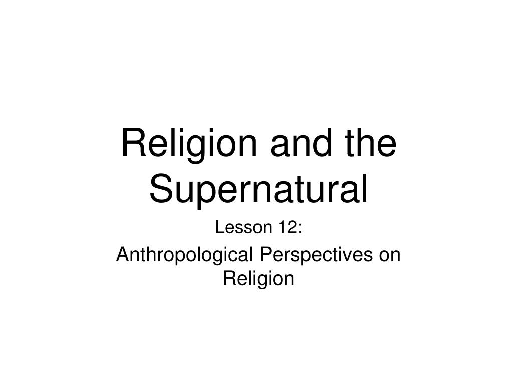 religion and the supernatural l.