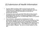 2 submission of health information