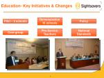 education key initiatives changes