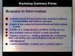 workshop summary points