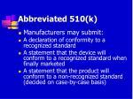 abbreviated 510 k63