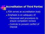 accreditation of third parties