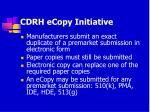 cdrh ecopy initiative
