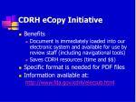 cdrh ecopy initiative101