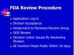 fda review procedure