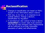reclassification