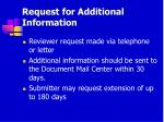 request for additional information48