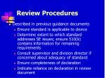 review procedures