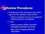 review procedures73