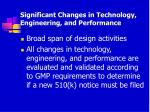 significant changes in technology engineering and performance