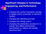 significant changes in technology engineering and performance77