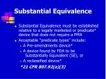 substantial equivalence