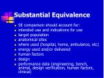 substantial equivalence24