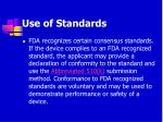 use of standards66