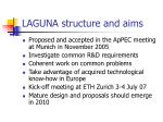 laguna structure and aims