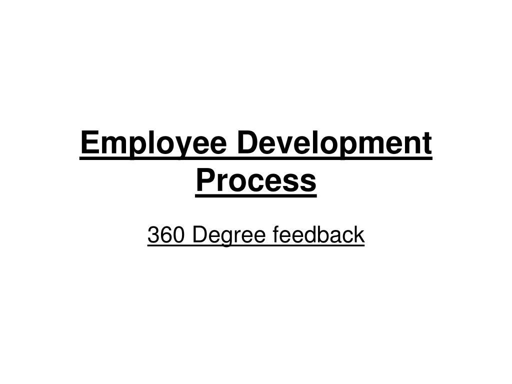 employee development process l.