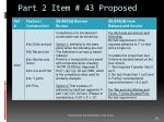 part 2 item 43 proposed