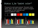 status 2 5a paint color